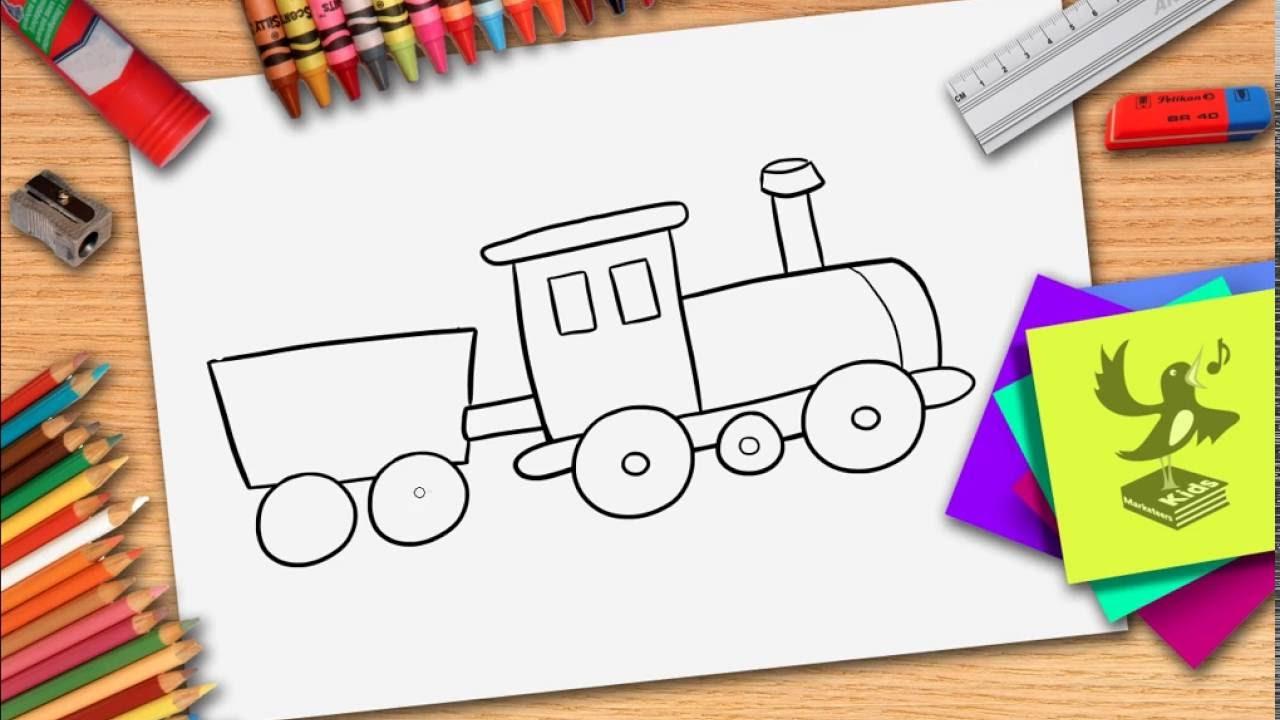 Wie Zeichnet Man Eine Zug Züge Zeichnen Lernen Youtube