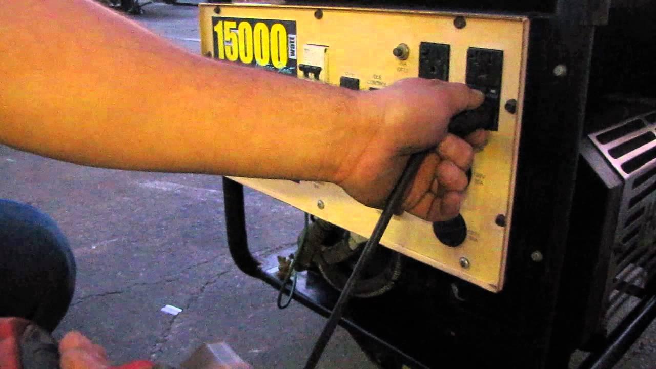 Generac 15000 Watt Generator >> Generac 15 KW 15000 Watt Generator 30hp Gasoline Engine 120/240V - YouTube