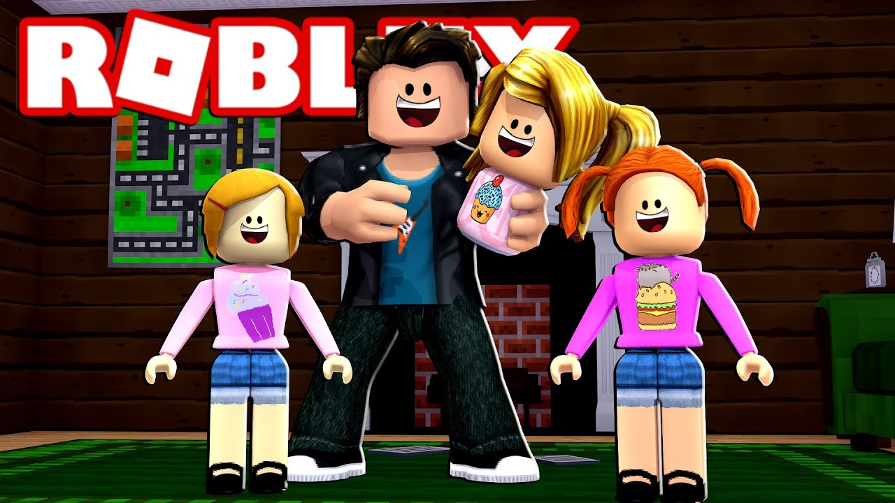 Happy Roblox Family Dad Watches The Kids In Bloxburg Youtube