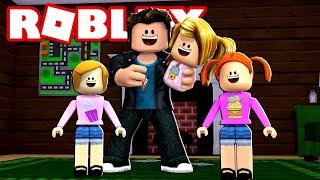 Glückliche Roblox Familie | Papa schaut die Kinder in Bloxburg!