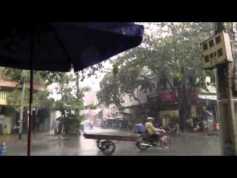 Rain shower in Phnom Penh