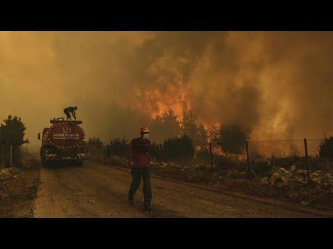 Waldbrände bedrohen Touristengebiete am Mittelmeer