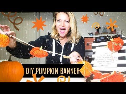 DIY Pumpkin Banner - + CHAT!  Live!!!