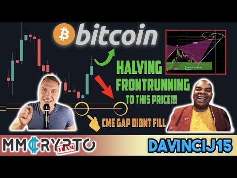 BITCOIN HALVING CRAZY FRONTRUNNING to THIS Price!!! & CME GAP DID NOT CLOSE!!! w. DavinciJ15