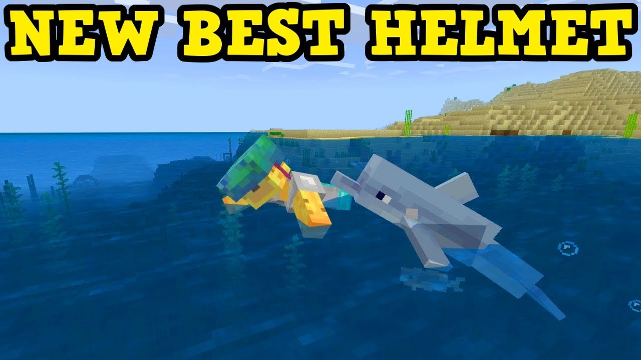 Minecraft Update Aquatic – The BEST HELMET In PE / Xbox  1.5.0