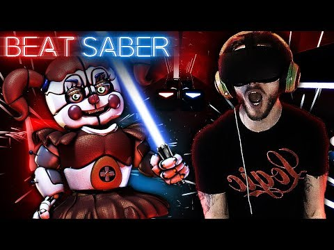 NEW FIVE NIGHTS AT FREDDY'S SONGS! | Beat Saber Expert Level Gameplay! thumbnail