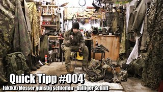 Jaktkit/Messer günstig schleifen - balliger Schliff