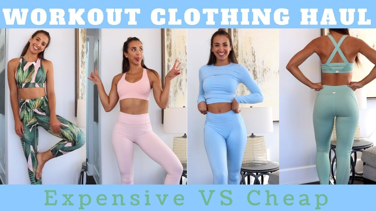exceptional range of colors limpid in sight top brands Workout Clothing Haul | Expensive vs CHEAP Sets