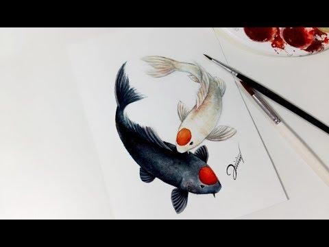 Speed Drawing - KOI FISH【Aquarela /Watercolor Speedpaint】