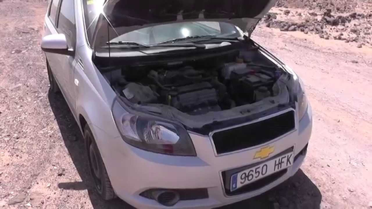 Chevrolet Aveo Oil Filter Location Video Youtube