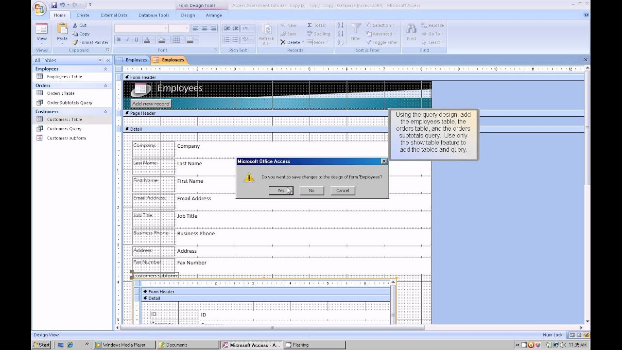 Microsoft Access Tutorial Youtube