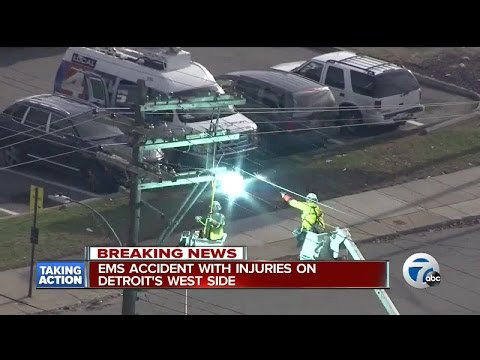 Blast rips off a power line worker's hard hat as he tried to disconnect power in Detroit