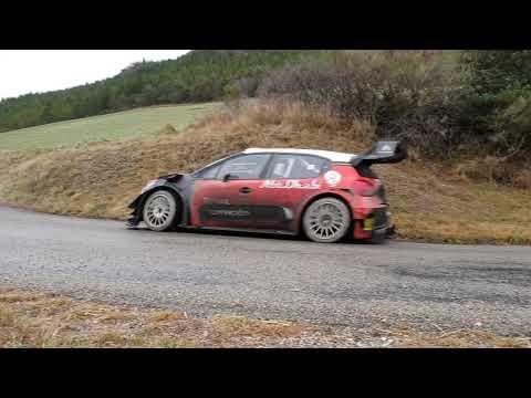 Test pré rallye Monté Carlo 2019 / Lappi Citroën C3 WRC