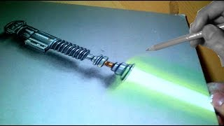 How I Draw a Lightsaber!