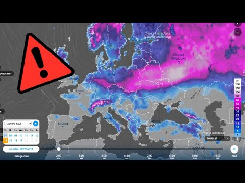Alert ! Severe weather accompanied by heavy rain and snow over France, Spain and Europe this week