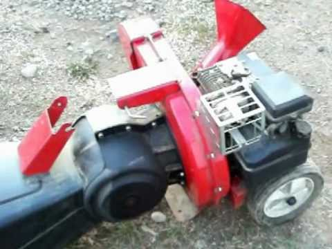 Mtd Yard Machines 3 Way Chipper Shredder 2 5hp Briggs Change Blades Cold Start Chipping Wood