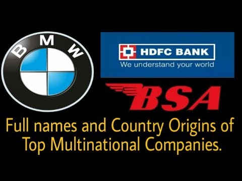 Top 10 Full names and Country Origins of Multinational Companies.10 बेहतरीन कंपनी के तथ्य।