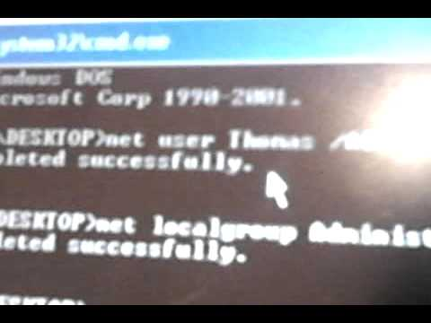 how to gain admin access with command prompt