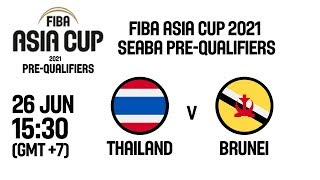 LIVE 🔴 - Thailand v Brunei - FIBA Asia Cup 2021 - SEABA Pre-Qualifiers
