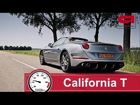 Ferrari California T (0 - 300 km/h) acceleration test poster