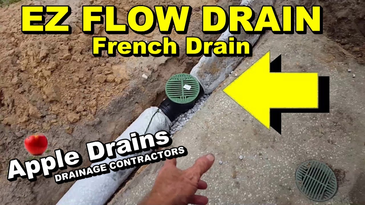 ez flow drain pipe diy french drain youtube. Black Bedroom Furniture Sets. Home Design Ideas