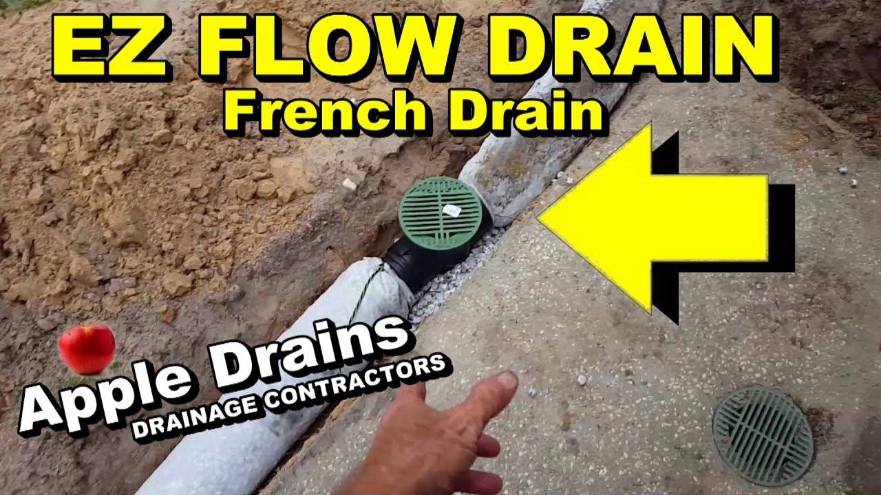 ez flow drain pipe diy french drain