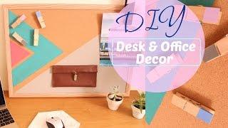 DIY: EASY DESK DECOR//OFFICE ORGANIZATION