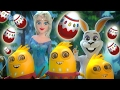 🐰🐣 FUNNY ❄ FROZEN ❄ LAND and EASTER ADVENTURE VIDEO 🎈🎈🎈 Bunny Rabbit for Kids