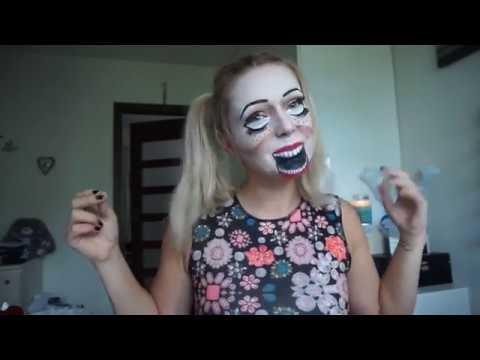 Halloween Makeup Doll Makijaz Halloween Straszna Lalka Youtube