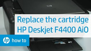 Replacing a Cartridge - HP Deskjet F4400 All-in-One Printer(Learn how to replace a cartridge in the HP Deskjet F4400 All-in-One printer. Don't know what cartridge you need? Visit www.suresupply.com. For other helpful ..., 2010-10-12T18:49:03.000Z)