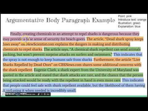 write body paragraph argumentative essay