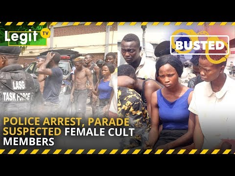 Police arrest, parade suspected female cult members, others| Legit TV thumbnail