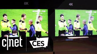 Samsung debuts an 85-inch TV with 8K resolution at CES 2018