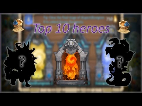TOP 10 HEROES FOR RAIDS/DUNGEONS 2017 Castle Clash