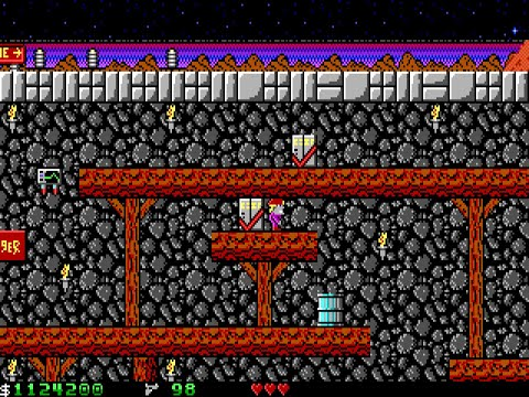 Apogee Crystal Caves I, Troubles With Twibbles, 1991. Level 4 Walkthrough