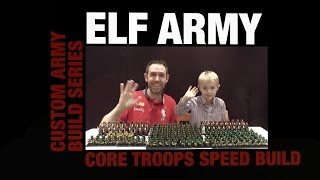 5-Year-Old helps build biggest LEGO Elf army in under 10 minutes!