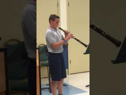 Jacob Daniel Lawrence plays the oboe