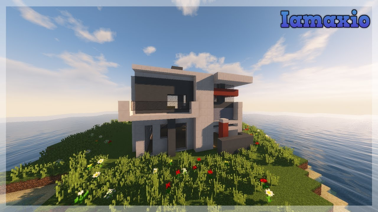 Minecraft timelapse Small modern house YouTube