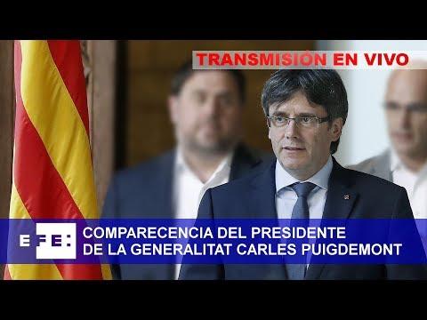 Declaración institucional del presidente de la Generalitat de Catalunya. Carles Puigdemont