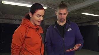Nadja Ammouri ja Lassi Hurskainen treenaavat Weelalla