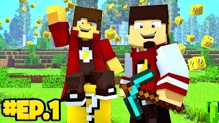 Minecraft: SKY WARS COM LUCKY BLOCK #1 ‹ EduKof Games ›