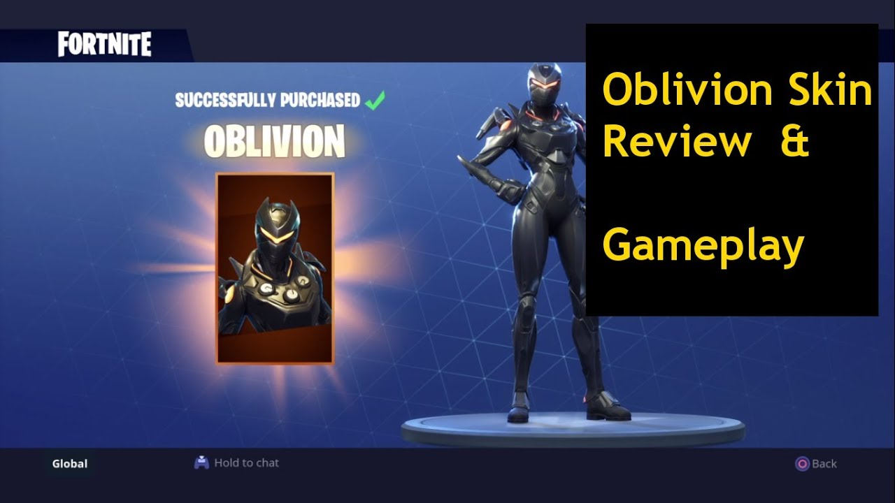 Oblivion Skin Review Gameplay Fortnite Battle Royale Youtube