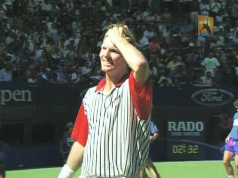 Courier jumps into Yarra River: 1992 Australian Open