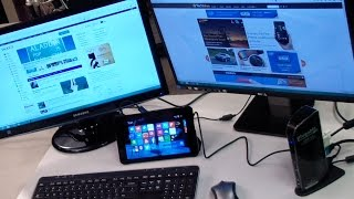 """Plugable UD-3900 Review (Dell Venue 8"""" Pro Tablet turned into a full desktop)"""