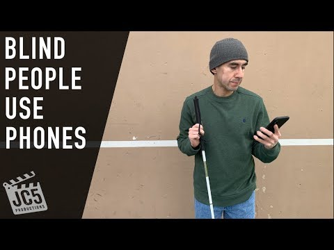 How A Blind/visually Impaired Person Uses A Phone #BlindPeopleUsePhones