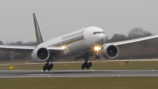 18 Landings in 6 Minutes: 777, 787, A330, 747, 757, 767, A321, A320 Manchester Airport