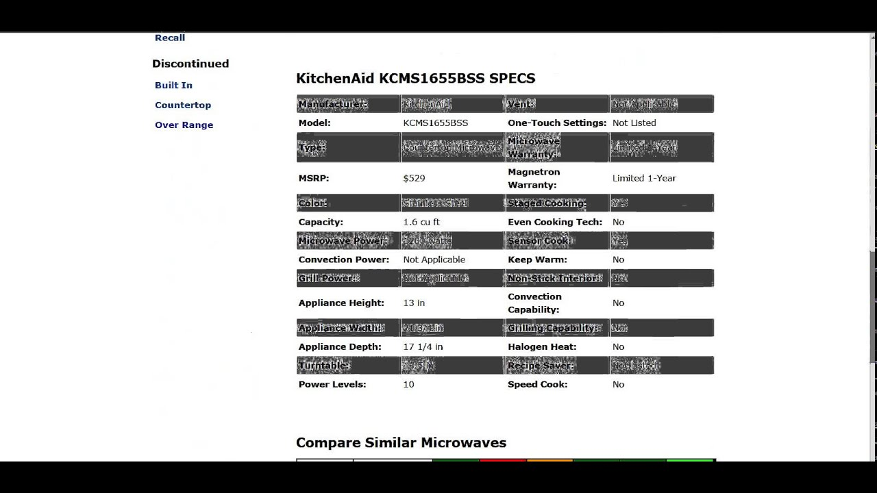 Kitchenaid Kcms1655bss Microwave Review