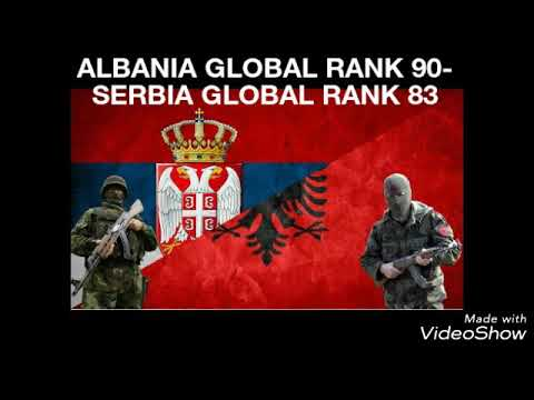 Albania vs Serbia military power comparison