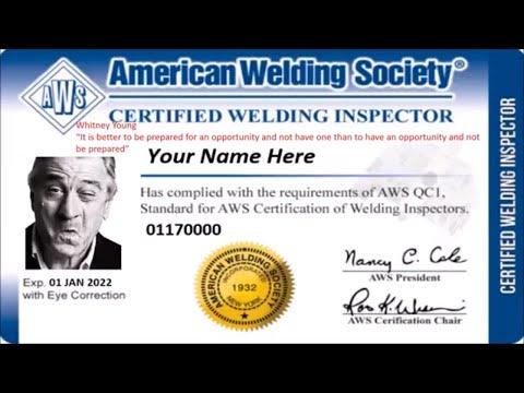 CWI Certified Welding Inspector Practice Test