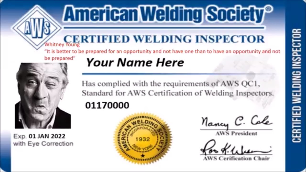 Cwi Certified Welding Inspector Practice Test Youtube